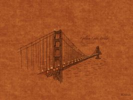 Bridges: Golden Gate, USA by vladstudio