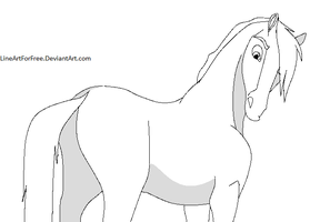 Free Derp Horse Base by LineArtForFree