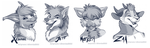 'Twitter' headshot sketches Part 4 - dA by SilverDeni