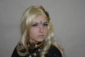 STOCK - Steampunk in creme colour - blonde by Apsara-Stock