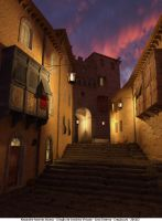 Street at twilight by Alex-R-Alonso