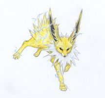 Sergio's Jolteon by mysteriouswhitewolf