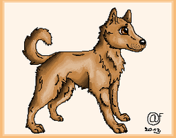 Pixel dog :D by Afna2ooo