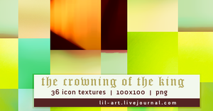 Icon Textures - Set 002 - The Crowning of the King by justalittlefaith
