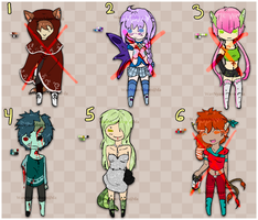 Humanoid Adopts - (closed) by WanNyanAdopts