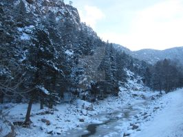 South St Vrain River in December 2013 2 by Collidoscope