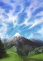 Mountain sketch by TheAstro