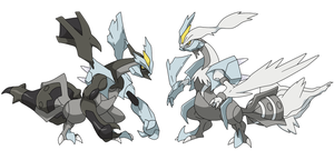 Black and White Kyurem by Pablo Acosta by Tzblacktd