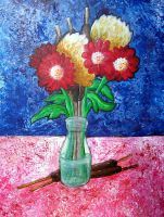 Palette Knife Still Life by lamarble