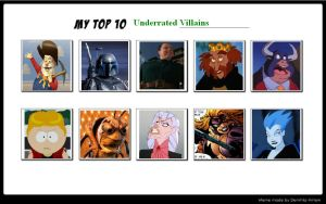 My Top 10 Underrated Villains 04 by SithVampireMaster27