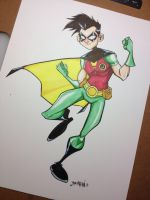 Robin Marker Sketch by Bloodzilla-Billy