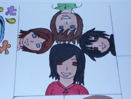 The Four Friends (Faces Completed!) by Moka898