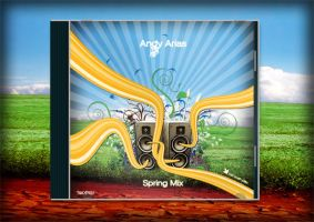 Andy Arias Spring Mix CD cover by badendesing