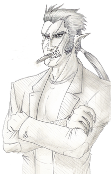 Nirvasull and his favorite cigare by By-the-By