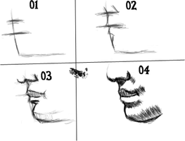 4 steps draw Tutorial: Mouth by themancat