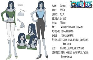 One Piece OC Sayoko - Reference Sheet by Bloommagic