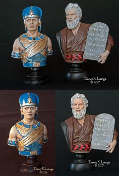 Ten Commandments duo (painted version) by miguelzuppo