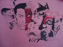 Painting on the wall : Batman part (UNFINISHED) by XSoul-ArtistX