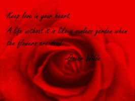 Rose (redone with quote) by ScenePika