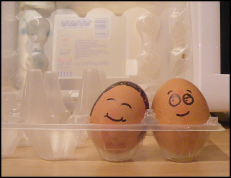 An eggcellent couple by rJoyceyy