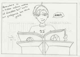 Fangirl Hopes Part 1 : The ominous library scene by highonlyf