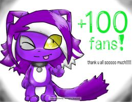 +100 fans!!!!! by EmalizDaCatX3