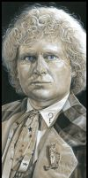Doctor Who  -  The 6th Doctor by caldwellart