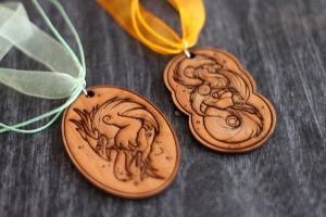 Sun and Moon God Pendants by Flying-Fox