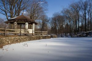 Gazebo in Winter _ color by Keith-D