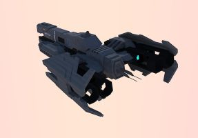 Halo Frigate UNSC Nevada (Test Render 2) by calamitySi