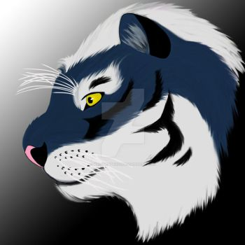 Russian Blue Tiger Profile by Kaligraphy22