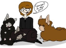 Ringo with the puffy Beatles by psychedelic-weirdo