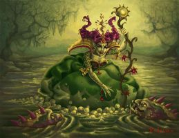 The sorceress of a swamp by Kularien