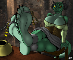 The Innkeeper Argonian by zp92