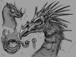 Dragon Sketches by VanLogan