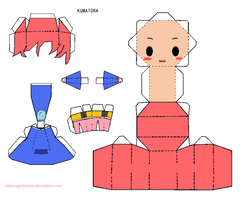 Papercraft MOTHER3 Kumatora by lettucegirlchristy