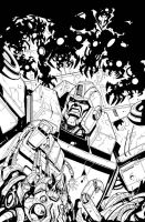 Ironhide 2 inked cover by MarceloMatere