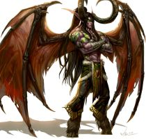 Demon Hunter Illidan Stormrage by SiaKim
