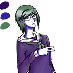 Color Palette Challenge - Male Touko Fukawa by anime1rulz