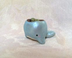 Whale Planter Figure by PinkChocolate14