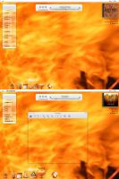Desk 87 - Desktop In Flame by iMacmotion
