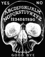 Skull Ouija Board by ShayneOtheDead
