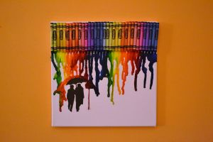 Melted Crayon Art by GIANTpizarro