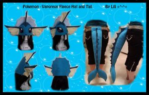 1st Gen - Vaporeon Hat and Tail by LiliNeko