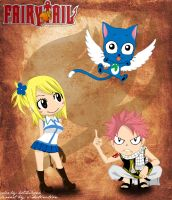 Team Natsu and Lucy by hotchilipen
