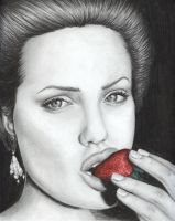 Angelina Jolie_strawberrie by D17rulez