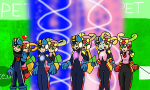Megaman Battle Network: Soul Unison TG Art trade by Klonoahedgehog