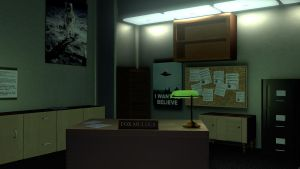 Fox Mulder's Office Done by FluffyPocket