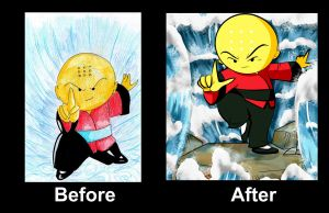 Before and after Omi by windflame