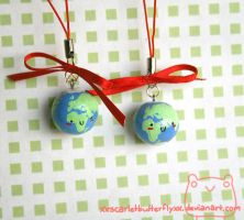 Earth Phone Charms by xXScarletButterflyXx
